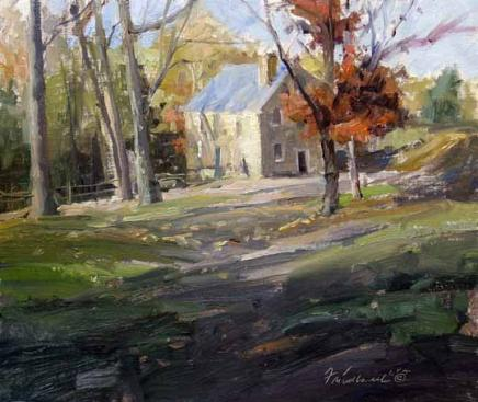 Fall at the Cooper Mill 10x12 Oil by Howard Friedland.jpg
