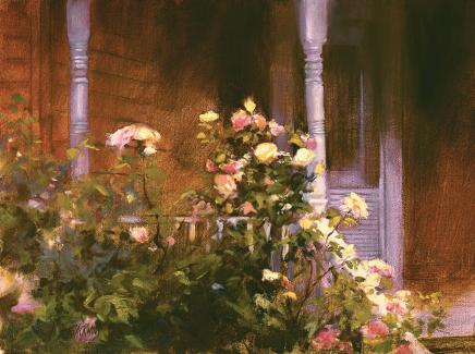 Welcome Roses by Susan Blackwood 12 x 16 Oil- 300 DPI.jpg