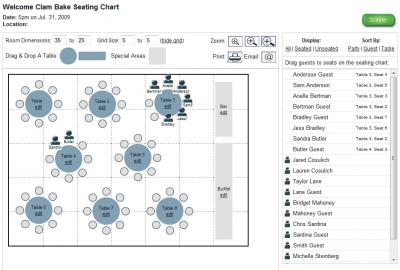 Free Wedding Seating Chart Maker on New Guest Manager And Seating Chart Tool