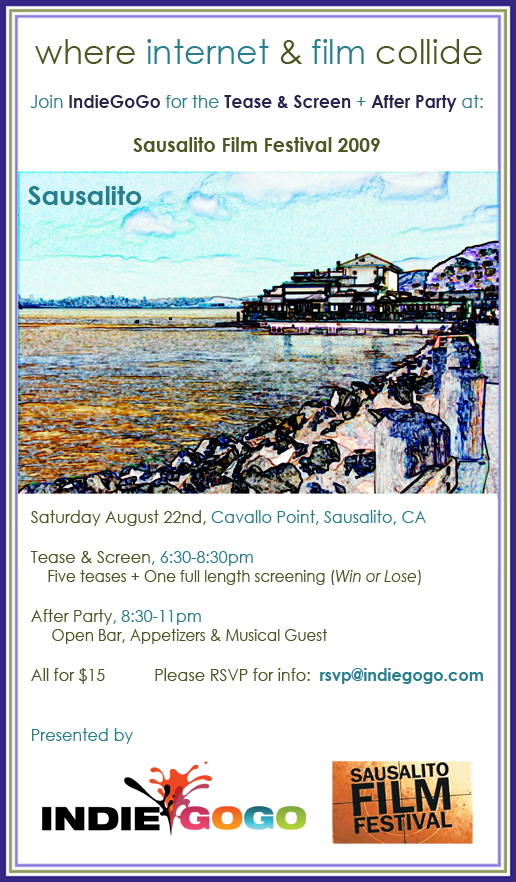 IndieGoGo Hosted Party at the Sausalito Film Festival
